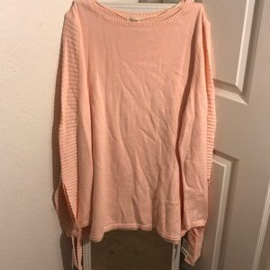 Sweaters - Women's pink light pullover cardigan